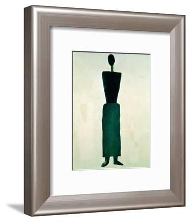 Suprematist Female Figure, 1928-32-Kasimir Malevich-Framed Giclee Print