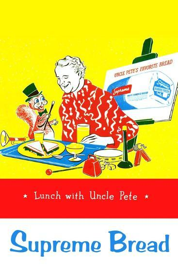 Supreme Bread: Lunch With Uncle Pete--Art Print