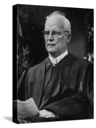 Supreme Court Justice Harold H. Burton Attending Commencement Ceremony at William and Mary College