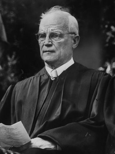 Supreme Court Justice Harold H. Burton Attending Commencement Ceremony at William and Mary College--Photographic Print