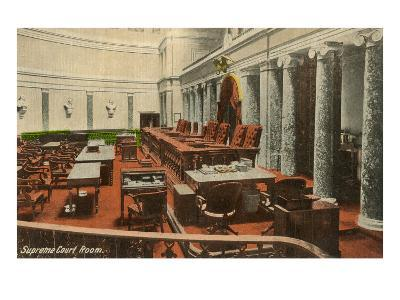 Supreme Court Room, Washington D.C.--Art Print
