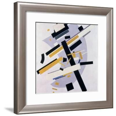 Supremus No. 58 Dynamic Composition in Yellow and Black, 1916-Kasimir Malevich-Framed Giclee Print