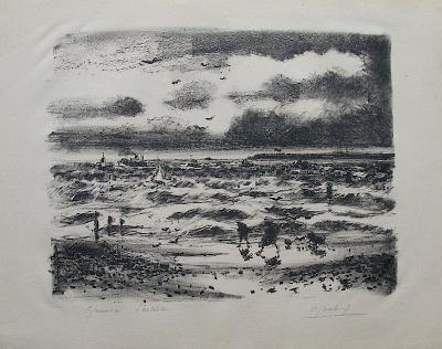Sur la C?te Normande-Gaston Sebire-Collectable Print
