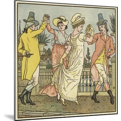 Sur Le Pont D'Avignon-Walter Crane-Mounted Giclee Print