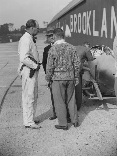 Surbiton Motor Club race meeting, Brooklands, Surrey, 1928-Bill Brunell-Photographic Print