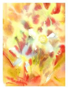 Abstract Yellow Flowers by Suren Nersisyan