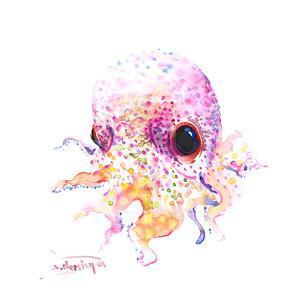 Baby Cute Octopus by Suren Nersisyan