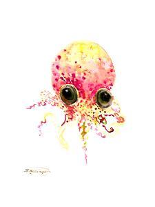 Baby Octopus Peach Color by Suren Nersisyan