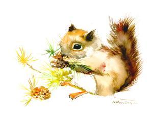 Baby Squirrel by Suren Nersisyan