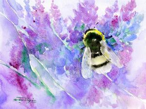 Bumblebee And Lavender by Suren Nersisyan
