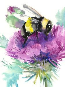 Bumblebee And Thistle Flower 2 by Suren Nersisyan