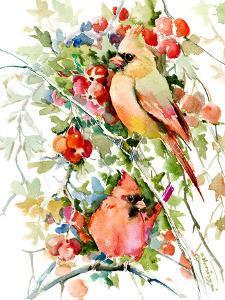 Cardinal Birds by Suren Nersisyan