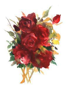 Deep Red Roses by Suren Nersisyan