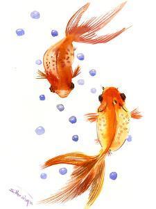Feng Shui Goldfish Koi 1 by Suren Nersisyan