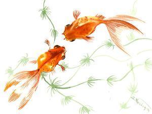 Feng Shui Goldfish Koi 2 by Suren Nersisyan