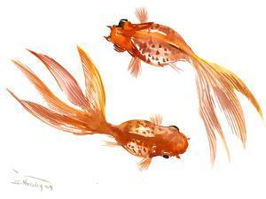 Feng Shui Goldfish Koi 3 by Suren Nersisyan
