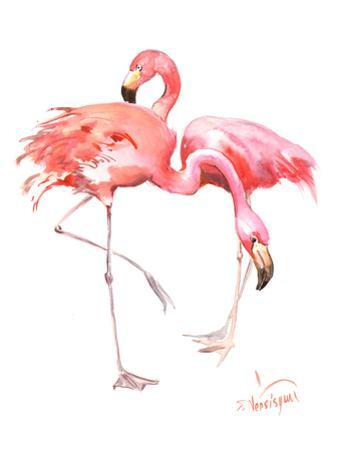 Flamingos by Suren Nersisyan
