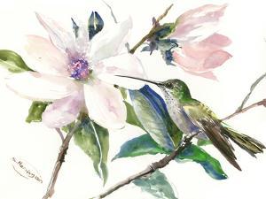Magnolia And Hummingbird 1 by Suren Nersisyan