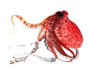 Octopus Deep Red by Suren Nersisyan