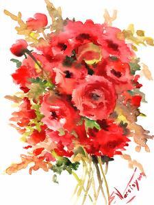 Red Ranunculus by Suren Nersisyan