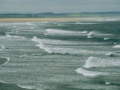 Surf at the North End of Lindisfarne, England-Sisse Brimberg-Photographic Print