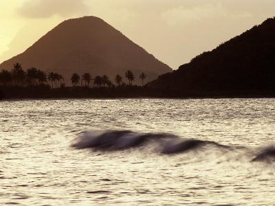 Surf Breaking at Sunset at Long Bay Beach-Mauricio Handler-Photographic Print