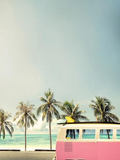 Surf Bus Pink-Design Fabrikken-Photographic Print