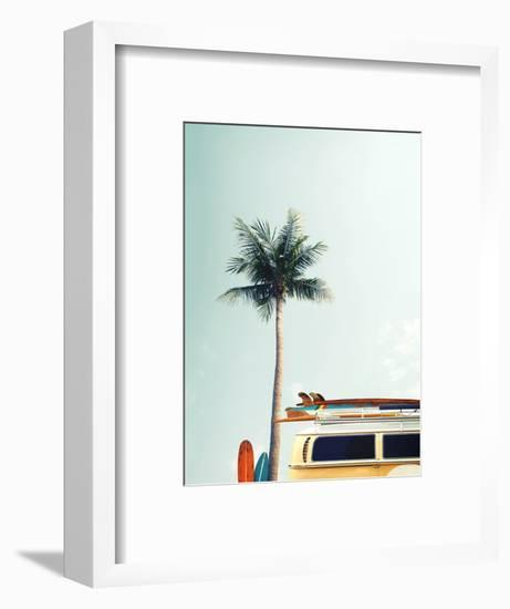 Surf Bus Yellow-Design Fabrikken-Framed Photographic Print