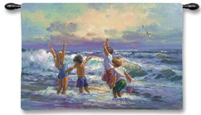Surf Dancers--Wall Tapestry