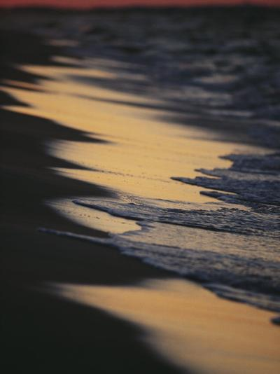 Surf Gently Lapping on a Sandy Beach at Twilight-Raymond Gehman-Photographic Print