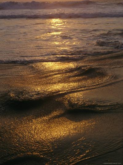 Surf on a Beach at Twilight-Raul Touzon-Photographic Print