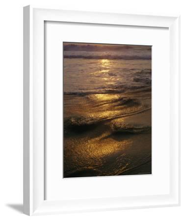 Surf on a Beach at Twilight-Raul Touzon-Framed Photographic Print