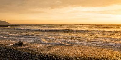 Surf on Beach at Dusk, Playa Waikiki, Miraflores District, Lima, Peru--Photographic Print