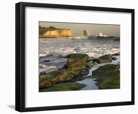 Surf on Four-Mile Beach, Santa Cruz Coast, California, USA-Tom Norring-Framed Photographic Print