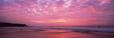 Surf on the Beach at Sunset, Hapuna Beach, Kohala Coast, Hawaii, Usa--Photographic Print