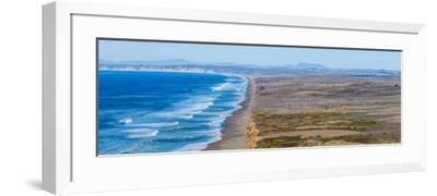 Surf on the beach, Point Reyes National Seashore, Point Reyes Peninsula, Marin County, Californi...--Framed Photographic Print