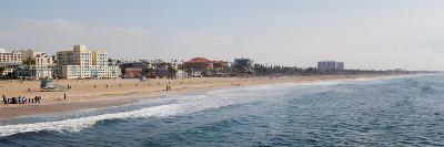 Surf on the Beach, Santa Monica Beach, Santa Monica, Los Angeles County, California, USA--Photographic Print