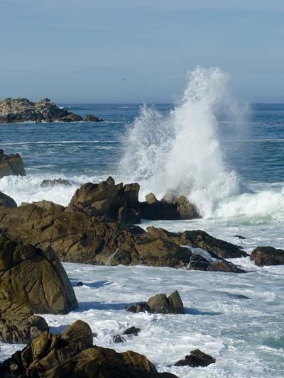 Surf Pounding the Rocks Along the Monterey Bay Coast-Brian Gordon Green-Photographic Print