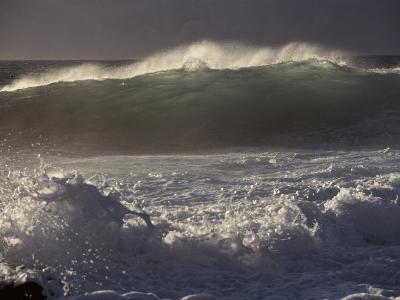 Surf Pounds a Beach in Hawaii-Marc Moritsch-Photographic Print