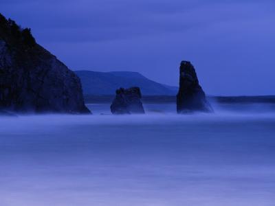 Surf Pounds Coastal Rock Formations-Raymond Gehman-Photographic Print