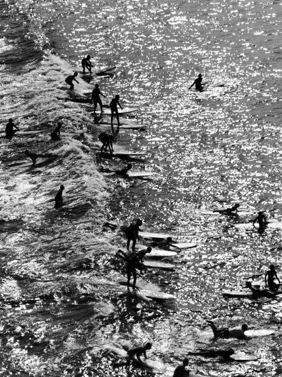 Surf Riders Surfing-Allan Grant-Photographic Print
