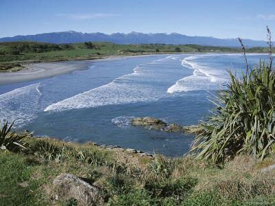 Surf Rolling onto Deserted Beaches, Greymouth, Westland, West Coast, South Island, New Zealand-D H Webster-Photographic Print
