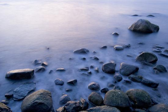 Surf Washes Through Rocks on the Shore-Paul Colangelo-Photographic Print