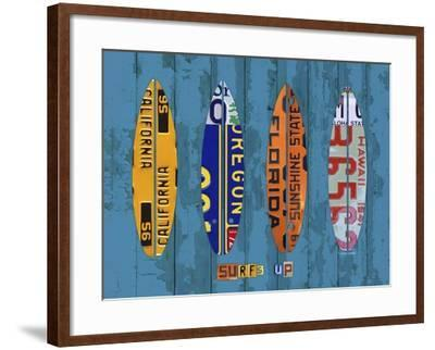 Surf-Design Turnpike-Framed Giclee Print