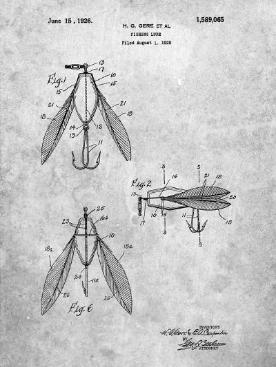 Surface Fishing Lure Patent-Cole Borders-Art Print