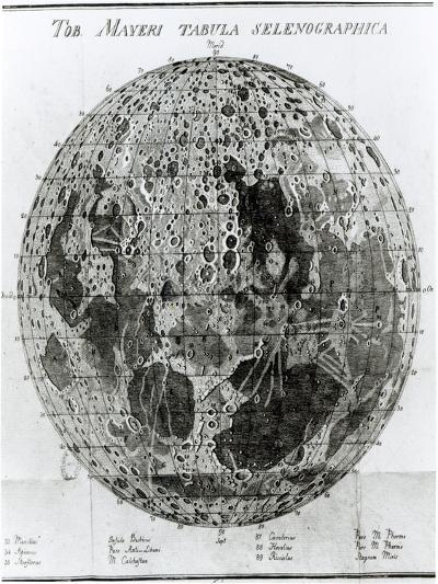 Surface of the Moon, Selenotopographische Fragmente by Schroeter, c.1791--Giclee Print