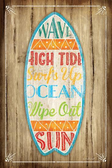 Surfboard-Jennifer Pugh-Art Print