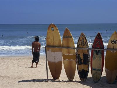 Surfboards Waiting for Hire at Kuta Beach on the Island of Bali, Indonesia, Southeast Asia-Harding Robert-Photographic Print