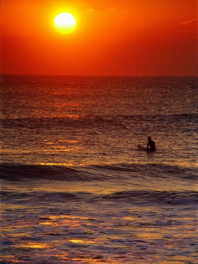 Surfer at Sunrise, FL-Jeff Greenberg-Photographic Print