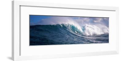 Surfer in the Sea, Maui, Hawaii, USA--Framed Photographic Print